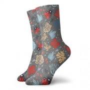 ACHOGI ZARAG Calcetines cortos de algodón para adultos, diseño de lagarto del desierto, para hombres, mujeres, yoga, ciclismo, correr, Multi7, Talla única