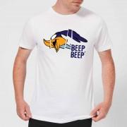 Looney Tunes Road Runner Beep Beep T-shirt - Wit - M - Wit