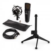 auna MIC-920B USB Conjunto Microfone V1 - Microfone Diafragma Grande Preto c/Suporte