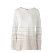 ランズエンド LANDS' END レディース・ロフティ・ボートネック・チュニック/ストライプ/長袖(アイボリーマルチストライプ)