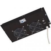 Intellinet Gruppo di ventilazione a soffitto per Rack 19'' 2 Ventole Nero