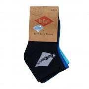 Lee Cooper Florentin 3 pár navy, kék és bleu férfi zokni