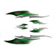 Spidy Moto Scooter Sticker Green Graphics Accessories Universal for All Scooty (Set of 5 Pc)
