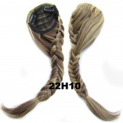 Clip in ofina s pleteným copánkem (22H10 (melír světle plavé a medově hnědé)) - Světové Zboží
