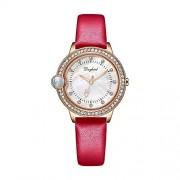 Top WH 100 Idiomas I Love You Ladies Watch, Luxury Diamond Lady Watch Rhinestone Acero Inoxidable/Cuero Band Bracelet Wristwatch Set Romantic Love Memory Gift