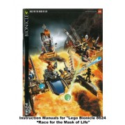 """INSTRUCTION MANUALS for Lego Bionicle Set #8624 """"RACE FOR THE MASK OF LIFE"""""""