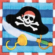 Servetele Pirate Treasure - set de 16 servetele cu pirati