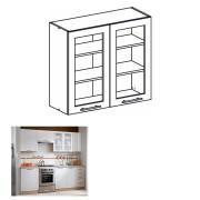 Horná skrinka rohová, dub sonoma/biela, MONDA W80S
