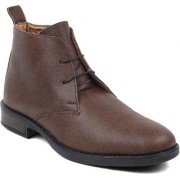 Feet Culture Men's Brown Synthetics Leather Ankle Length Casual Boots