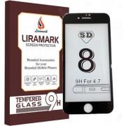 Apple iPhone 8 Full Cover Edge to Edge 5D LIRAMARK Military Grade Black Colored Anti-Scratch Tempered Glass
