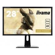 LED-monitor 71.1 cm (28 inch) Iiyama GB2888UHSU-B1 Energielabel B 3840 x 2160 pix UHD 2160p (4K) 1 ms USB 3.0, HDMI, VGA, DisplayPort, Hoofdtelefoon (3.5 mm