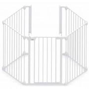 Noma Предпазна врата Modular, 5 панела, метал, бяла, 94047