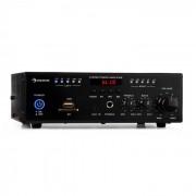 Amp4 BT Mini-Stereo-Verstärker Bluetooth Fernbedienung schwarz
