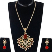 Spargz Traditional Design Pendant Set Studded with AD Stone AIPS 236