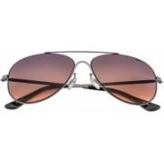 Opium Aviator Sunglasses(Violet, Brown)