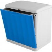 stefanplast 42553 Pattumiera Plastica 20 Litri Grigio/azzurro - 42553