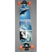 Longboard Drop Shape Surfer Blue 42