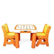 Set masuta si 2 scaune FIRST - BABYROOM galben