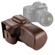 Full Body Camera PU Leather Case Bag for Nikon D7200 / D7100 / D7000 (18-200 / 18-140mm Lens) (Brown)