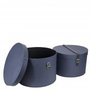 Rut Hutschachtel 2er Set Blau Canvas Bigso Box of Sweden