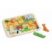 Janod puzzle din lemn Zoo Chunky cu 7 piese 07022