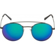 Rich Club Round, Cat-eye Sunglasses(Blue, Green)