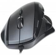Delux M910 Wired Mouse Black & Grey 5 DPI Speed ​​Gear Antideslizante Diseño - Negro Y Gris