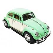 1:32 Scale 1967 Volkswagen Classical Beetle Ivory Door Classic Car Toy, Pink (5-inch) (Green)
