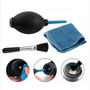 3in1 Stof Cleaner Camera Schoonmaken Lens Borstel Luchtblazer Doekjes Schoon doek kit voor voor Gopro Canon Nikon Sony DSLR Camcorder VCR