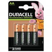Duracell AA, Uppladdningsbara Duracell Batterier Plus 1300mAh. 4 st