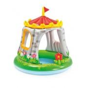 Piscina gonflabila pentru copii cu acoperis pentru protectie solara - Castel 122 x 122 cm