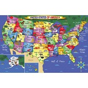White Mountain Puzzles US Map Jigsaw Puzzle (48-Piece)