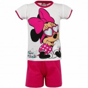 Disney Pyjama met korte broek Minnie Mouse met zonnebril wit