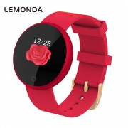 LEMONDA WB36 1.04-inch Screen Fitness Tracker Smart Sports Bracelet Heart Rate Female Physiological Reminder for IOS Android - Red