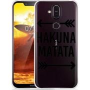 Nokia 8.1 Hoesje Hakuna Matata black
