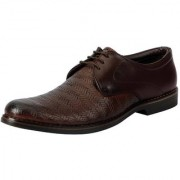 Fausto Men Brown Lace-Up Formal Shoes