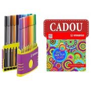 SET CARIOCI PEN 68 COLOR PARADE 20 BUCATI/SET LILIAC + CARTE COLORAT CADOU STABILO (SW68200402)