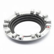 Soft Light Box Transfer Jaw Chuck for Hensel Flash Lamp 100mm Caliber - Silver