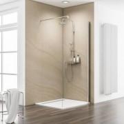 Schulte Home Paroi de douche fixe à l'italienne Walk In Free, 140 cm, transparent