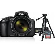 Digitalni foto-aparat Nikon P900, Set (Sa SD 16GB + NGHP001), Crna