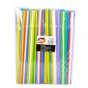 Paie Flexibile Fluorescente din Plastic OTI, 240x5 mm, 250 Buc/Set, Multicolor, Paie din Plastic, Paie pentru Petreceri, Paie din Plastic Simple, Accesorii pentru Bar, Accesorii pentru Petreceri, Paie din Plastic Flexibile, Paie Flexibile pentru Bauturi