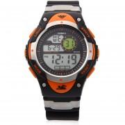 HOSKA H013B Niños LED Reloj Despertador Digital Fecha De Presentación Del Día 5ATM Se Divierte El Reloj (naranja)