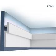Kroonlijst Orac Decor C395 MODERN STEPS plafondlijst voor indirecte verlichting lijstwerk modern design wit 2 m