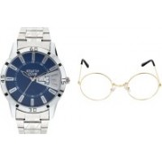 stuffy club Round Sunglass, Analog Watch Combo(Multicolor)