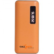 Callmate T21 13000 mAh Power Bank Dual USB with Display LED Light - Orange