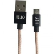 Design Letters Micro USB Cable 1 M Nude