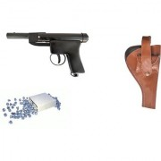 Prijam Air Gun Bbm-007 Model With Metal Body For Target Practice Combo Offer 300 Pellets With Cover Air Gun