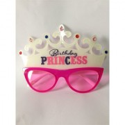 Funcart Birthday Princess Crown White and Pink Eye Glasses
