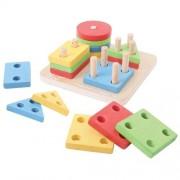 Joc de sortat - 4 forme geometrice – Big Jigs