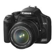 Canon SLR Canon EOS 450D Negro + lente 18-55mm EF-S IS